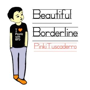 Beautiful Borderline CD (white) - Pinki Tuscaderro